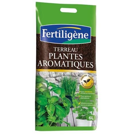 FERTILIGENE - Terreau plantes aromatiques - 6 L