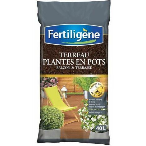 FERTILIGENE Terreau Plantes En Pots - 40 L
