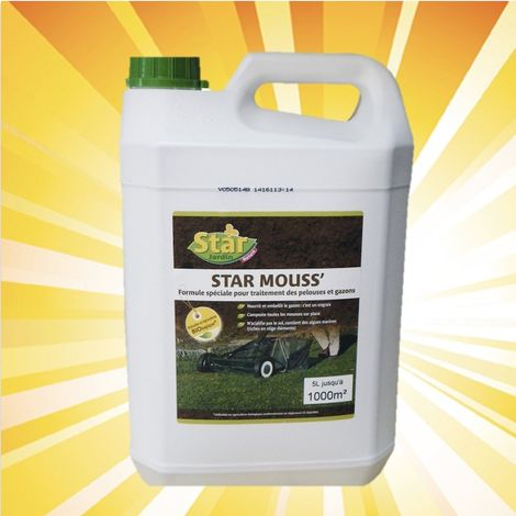 Fertilisant engrais spécial pelouse et anti-mousse 5 litres