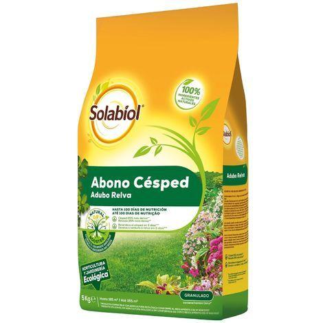Fertilizante granulado para césped SOLABIOL 5Kg