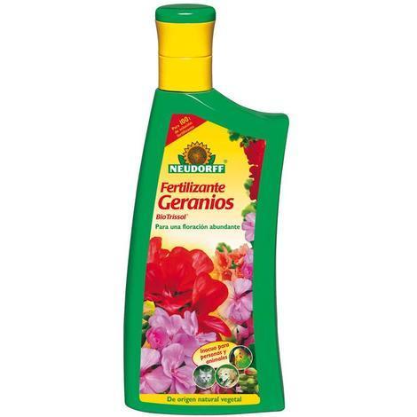 Fertilizante orgánico floración geranios