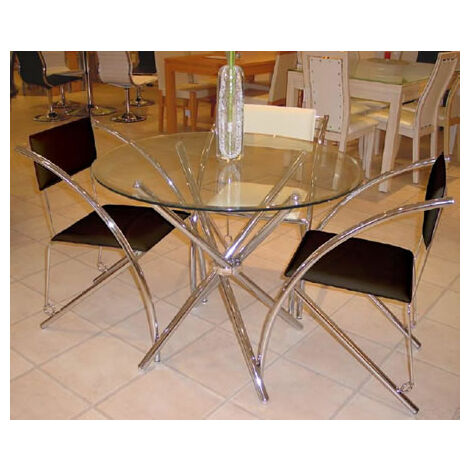 Fesco Glass Circular Round Dining Table