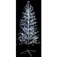festiligh 40479-ap0 | spray- sapin spray argent h1,50m- 320led blanc pétillant
