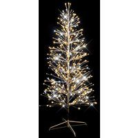 festiligh 40479-ap9 | spray- sapin spray argent h1,50m- 320led blanc chaud pét