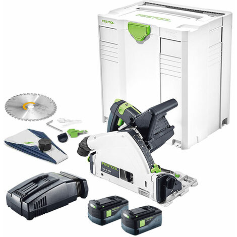 Festool 18V TSC 55 Plunge Cut Saw with 2 x 5.2Ah Batteries & Charger in Systainer-5