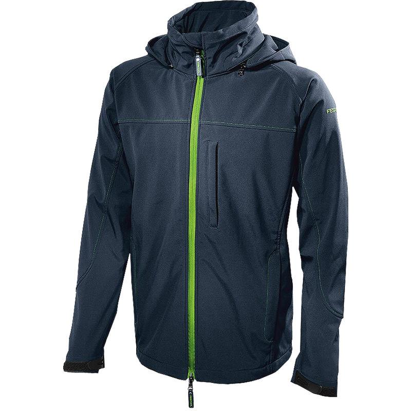 Image of 204057 Soft Shell Jacket Dark Blue Medium Size (M) - Festool