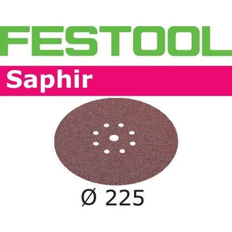 FESTOOL 25 Abrasifs Saphir 225 mm ponçage grossier pour LHS225