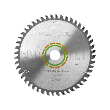 Festool 491952 Fine Tooth Saw Blade 160 x 2.2 x 48T for TS55