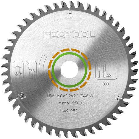 Festool 491952 Fine Tooth Saw Blade 160mm x 48T W48 for TS55 Saw