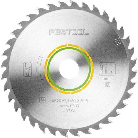 Festool 493198 Universal Saw Blade For TS75 210mm x 30mm W36 36T