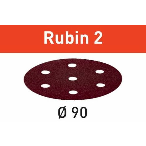FESTOOL 50 Abrasifs Rubin 2 pour le bois Ø 90 mm