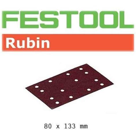 FESTOOL 50 Abrasifs StickFix 80x133 mm - STF Rubin2