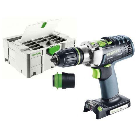 Festool 574701 PDC 18/4 Li-Basic 18v Cordless Percussion Drill Bare Unit Systainer