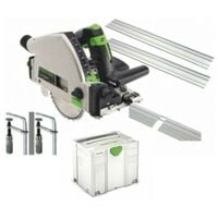 Festool 575962 Circular saw TS 55 REQ 2xGuides 2xConnector Clamps Systainer Blade 110V
