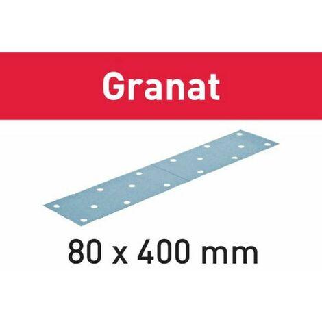 Festool Abrasifs STF 80x400 P80 GR/50 Granat