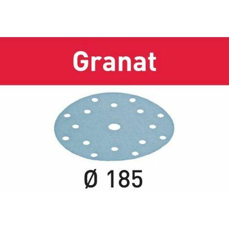 Festool Abrasifs STF D185/16 P80 GR/50 Granat