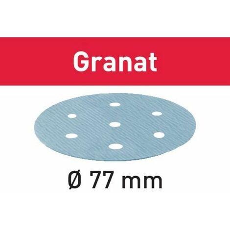 Festool Abrasifs STF D77/6 P80 GR/50 Granat