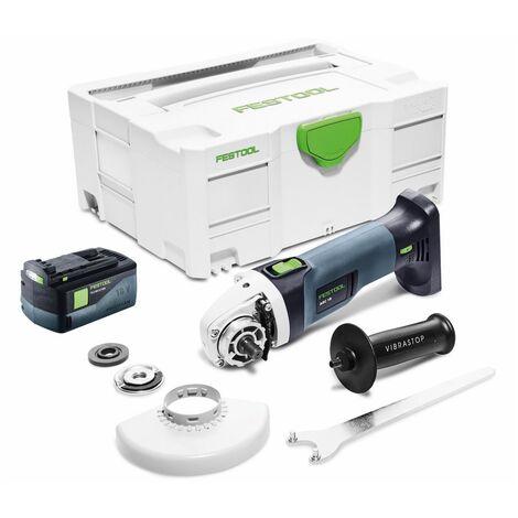 Festool AGC 18-125 Meuleuse d'angle sans fil 18V 125mm Brushless ( 575343 ) + 1x Batterie 5,2Ah + Coffret de transport - sans chargeur