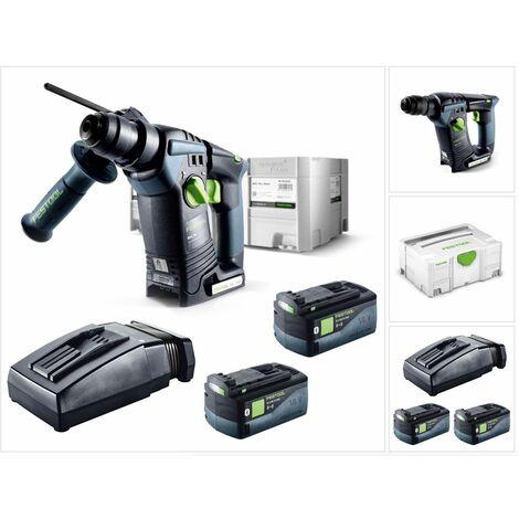 Festool BHC 18 Li 5,2 I-Plus Martillo perforador a batería en Systainer + 2x Batería BP 18 Li 5,2 ASI + Cargador TCL 6 ( 575697 )