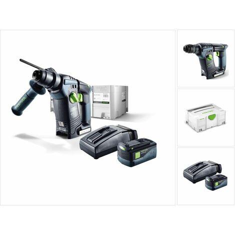 Festool BHC 18 Li Plus Perforateur sans fil SDS-Plus avec boîtier Systainer + 1x Batterie BP 5,2 Ah + Chargeur TCL 6