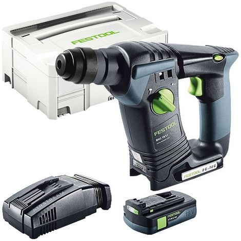 Festool BHC 18 SDS Plus 18V Hammer Drill With 1 x 3.1As Battery & SCA Charger in Systainer Case