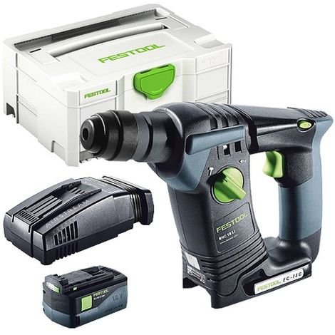 Festool BHC 18 SDS Plus 18V Hammer Drill With 1 x 5.2As Battery & SCA Charger in Systainer Case