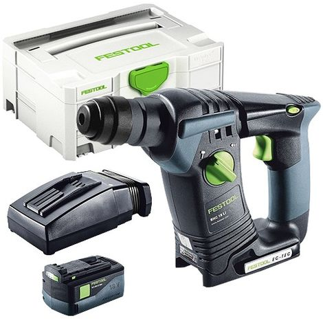 Festool BHC 18 SDS Plus 18V Hammer Drill With 1 x 5.2As Battery & TCL Charger in Systainer Case