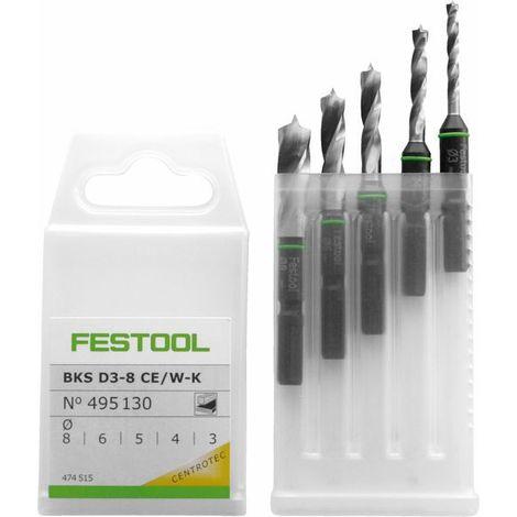 Festool Cassetta punte BKS D 3-8 CE/W-K - 495130