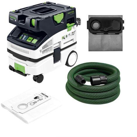 Festool CTL MINI I CLEANTEC Absaugmobil 10l Staubkl. L ( 574840) + Longlife-Filtersack + Zubehör
