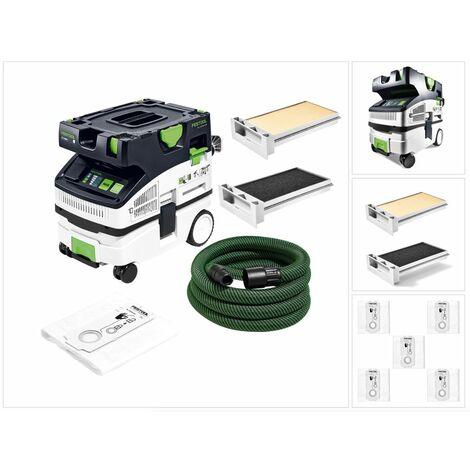 Festool CTL MINI I CLEANTEC Aspirateur mobile 10l, poussières de classe L ( 574840 ) + Filtre extra