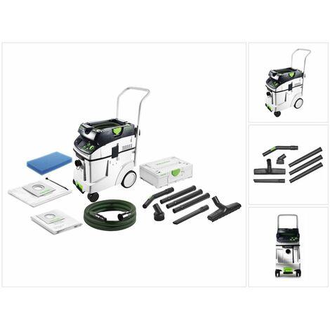 Festool CTM 48 E AC CLEANTEC Aspirateur mobile 48l, poussières de classe M ( 574991 ) + Kit de nettoyage