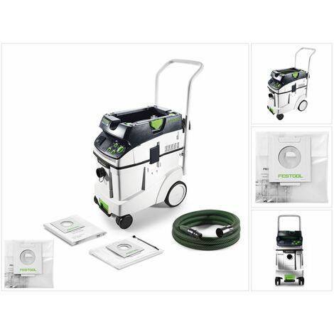 Festool CTM 48 E AC CLEANTEC Aspirateur mobile 48l, poussières de classe M ( 574991 ) + Sac d'élimination de déchets ENS-CT