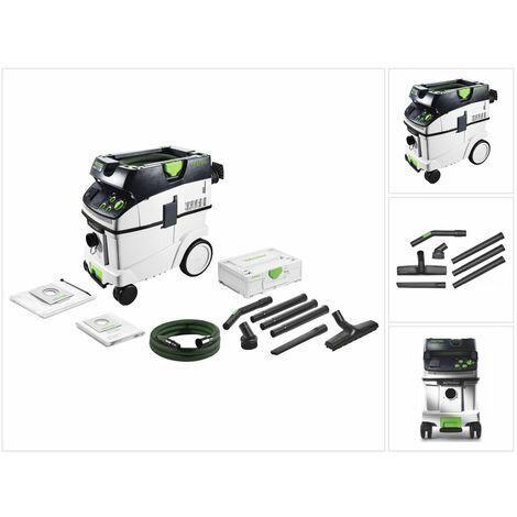 Festool Dépoussiéreur CTM 36 E AC CLEANTEC Aspirateur + Kit de nettoyage compact D 27 / D 36 K-RS-Plus + Coffret de transport
