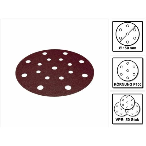 Festool Disco de lijar STF D150/16 P100 RU2/50