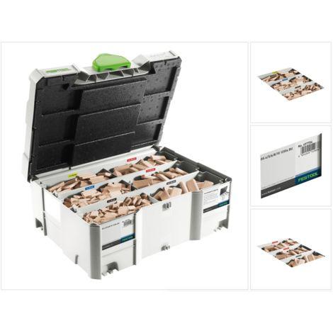 Festool Domino Buche Sortiment DS 4/5/6/8/10 1060x BU ( 498899 ) mit Domino Fräsern und Domino Dübeln im Systainer
