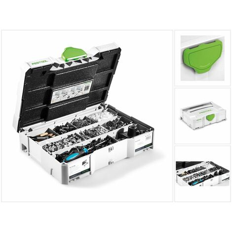 Festool DOMINO KV-SYS D8 Système d'assemblage avec boîtier SYS 1 T-LOC SYSTAINER pour fraiseuse domino