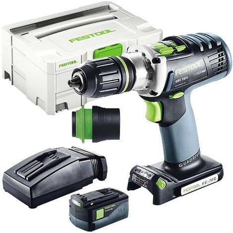 Festool DRC 18/4 18V Drill Driver With 1 x 5.2As Battery & TCL Charger in Systainer Case