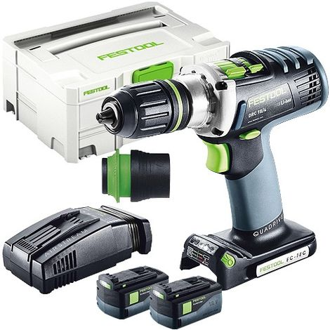 Festool DRC 18/4 18V Drill Driver With 2 x 5.2As Batteries & SCA Charger in Systainer Case