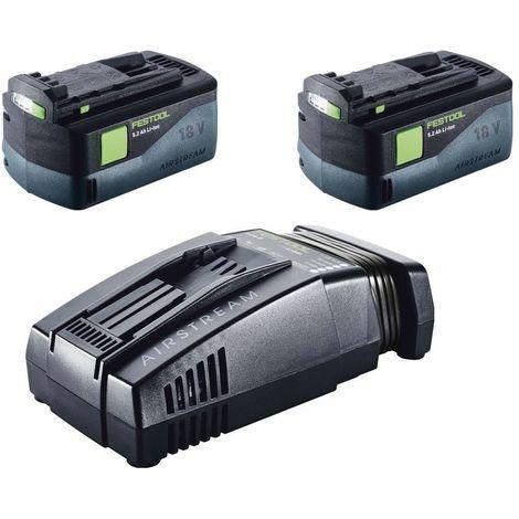 Festool DRC 18/4 Li 5,2-Plus-SCA Perceuse-visseuse sans fil QUADRIVE avec boîtier Systainer plus + 2x Batteries BP 18 Li 5,2 AS + Chargeur rapide SCA 8 ( 574916 )