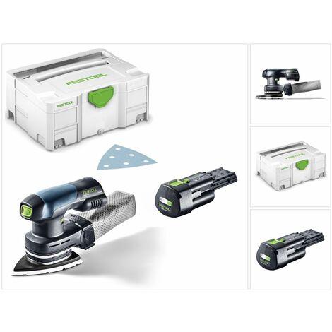 Festool DTSC 400 18V Ponceuse sans fil Delta hybride avec boîtier Systainer + 1x Batterie BP 18 Li 3,1 Ah Ergo - sans Chargeur