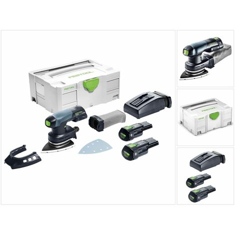 Festool DTSC 400 Li 3,1 I-Plus Lijadora Delta a batería 18V en Systainer + 2x Batería BP 18 Li 3,1 Ah Ergo-I + Cargador TCL 6 ( 575710 )