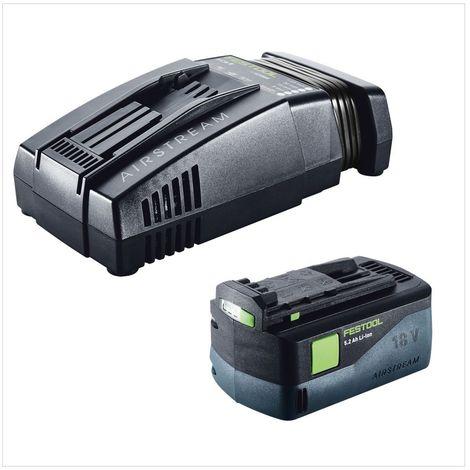 Festool DWC 18-2500 Li Basic Visseuse sans fil pour plaquistes avec boîtier Systainer + Chargeur de vis + 1x Batterie BP 18 Li 5,2 AS Li-lon + Chargeur SCA 8