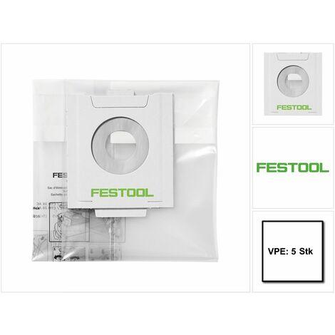 Festool ENS-CT 26 AC/5 Saco de evacuación - 5 unidades ( 496216 ) para CT 26 con Autoclean