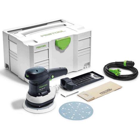 Festool ETS 150/3 EQ-Plus 240V Eccentric sander 576073 with Accessories in Case