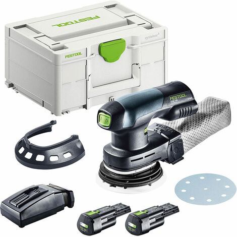 Festool ETSC 125 18V Eccentric Sander with 2 x 3.1Ah Battery & TCL Charger in SYS-2 575713
