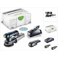 Festool ETSC 125 Li 3,1-Plus 18V Ponceuse excentrique hybride sans fil 125mm avec boĂŽtier Systainer + 2x Batteries 3,1 Ah + Chargeur ( 576899 )