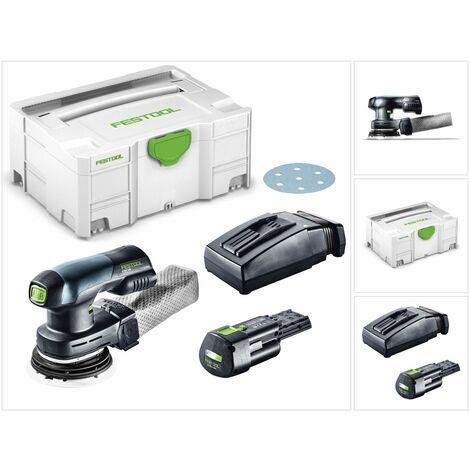 Festool ETSC 125 Lijadora excéntrica a batería 18V en Systainer + 1x Batería BP 18 Li 3,1 Ah Ergo + Cargador TCL 6