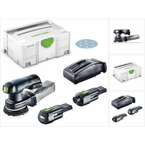 Festool ETSC 125 Lijadora excéntrica a batería 18V en Systainer + 1x Batería BP 18 Li 3,1 Ah Ergo + Cargador TCL 6 + Adaptador de red ACA 220-240/18V Ergo