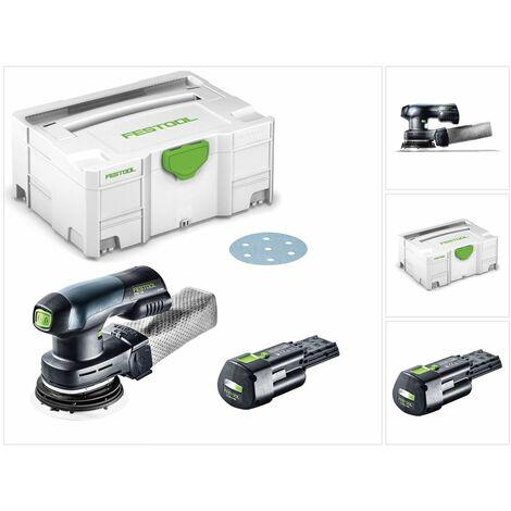 Festool ETSC 125 Lijadora excéntrica a batería 18V en Systainer + 1x Batería BP 18 Li 3,1 Ah Ergo - Sin cargador incluido