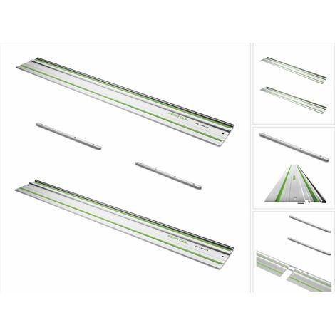 Festool FS 1400/2 Rails de guidage 1400 mm - 2 pièces (2x 491498) + 2x Connecteurs FSV (2x 482107)